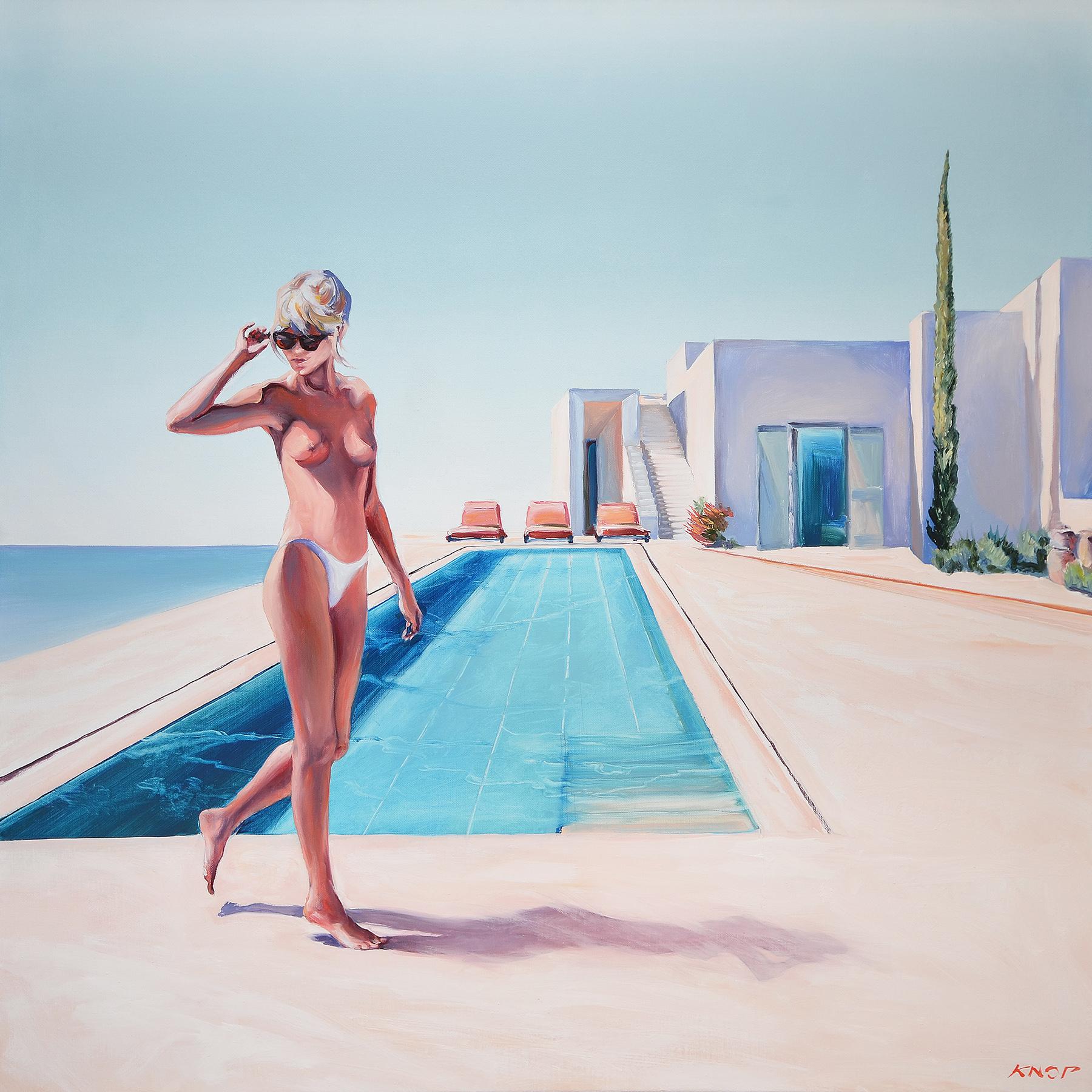 Madame VAngel 15 Swimming Pool, 2021, 95x95 cm